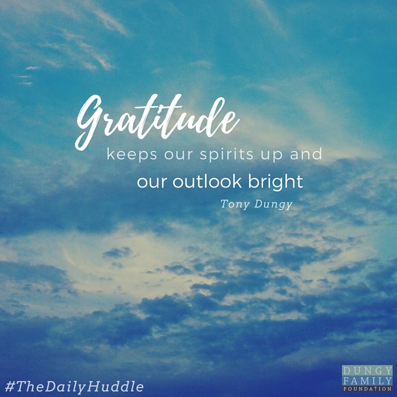 Daily Huddle Gratitude